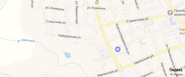 Набережная улица на карте Южноуральска с номерами домов