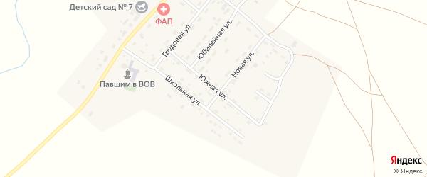 Южная улица на карте деревни Водопойки Челябинской области с номерами домов