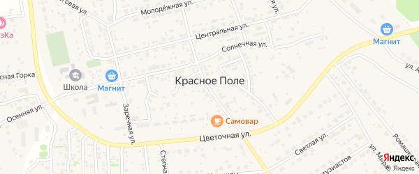 Вишневая улица на карте поселка Красного Поля Челябинской области с номерами домов