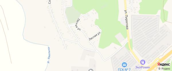 Лесная улица на карте Южноуральска с номерами домов