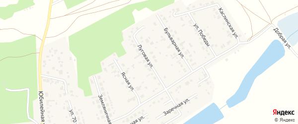 Луговая улица на карте поселка Саргазы Челябинской области с номерами домов