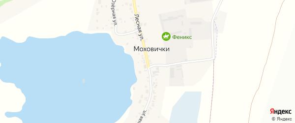 Лесная улица на карте деревни Моховички с номерами домов