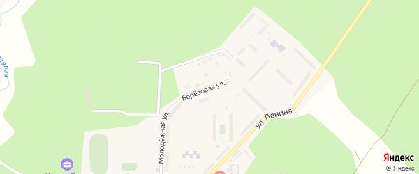Березовая улица на карте поселка Рощино с номерами домов