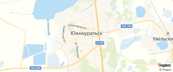 Карта Южноуральска с районами, улицами и номерами домов: Южноуральск на карте России