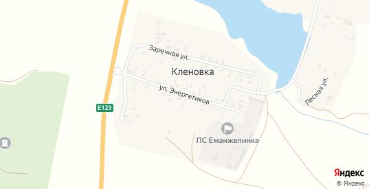 Улица Энергетиков в поселке Кленовка в Еманжелинске с номерами домов на карте. Спутник и схема онлайн