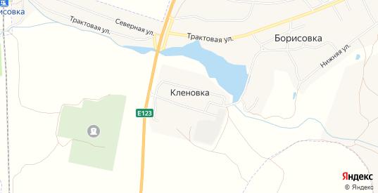 Карта поселка Кленовка в Еманжелинске с улицами, домами и почтовыми отделениями со спутника онлайн