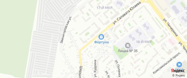 Рязанская улица на карте Челябинска с номерами домов