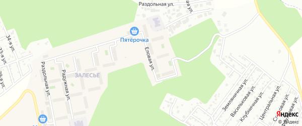 Улица Еловая (мкр Залесье) на карте Западного поселка с номерами домов
