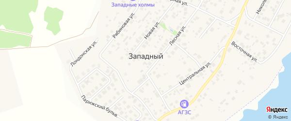 Сиреневая улица на карте Западного поселка с номерами домов