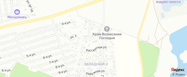 Улица Весенняя (мкр Западный-2) на карте Западного поселка Челябинской области с номерами домов