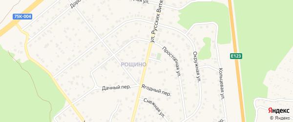Улица Русских Витязей на карте Южноуральска с номерами домов