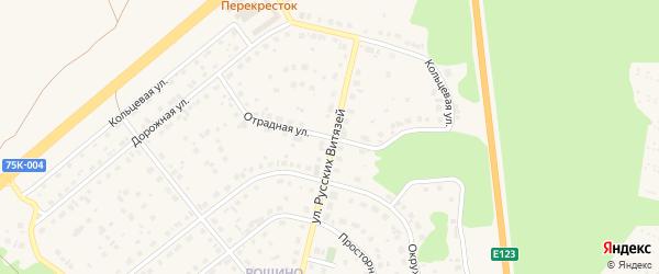 Отрадная улица на карте Южноуральска с номерами домов