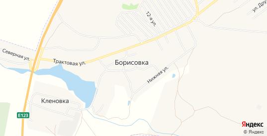 Карта поселка Борисовка в Еманжелинске с улицами, домами и почтовыми отделениями со спутника онлайн