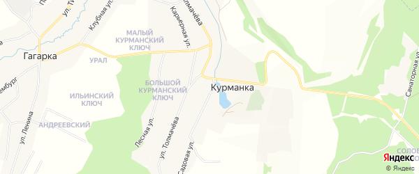 Карта деревни Курманки города Заречного в Свердловской области с улицами и номерами домов
