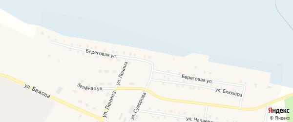 Береговая улица на карте Берегового поселка с номерами домов