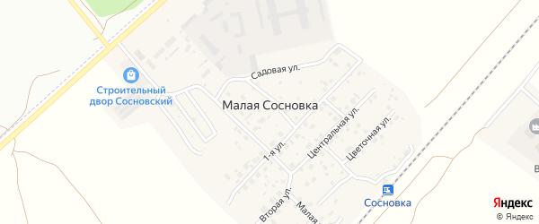 Строение Административный корпус на карте поселка Малой Сосновки с номерами домов