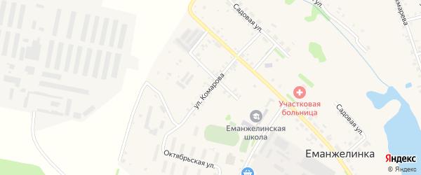 Улица Комарова на карте села Еманжелинки с номерами домов