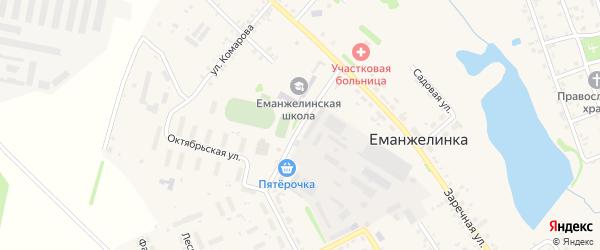 Школьная улица на карте села Еманжелинки с номерами домов