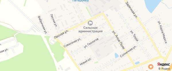 Совхозная улица на карте села Еманжелинки с номерами домов