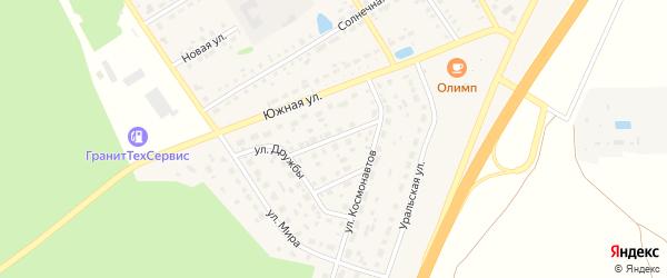 Молодежная улица на карте села Еманжелинки Челябинской области с номерами домов