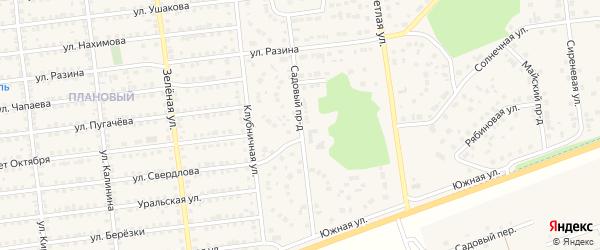 Садовый проезд на карте Южноуральска с номерами домов