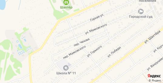 Переулок Чехова в Еманжелинске с номерами домов на карте. Спутник и схема онлайн