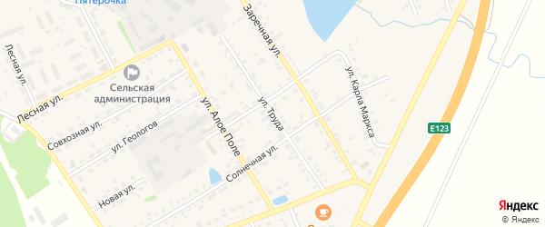 Улица Труда на карте села Еманжелинки с номерами домов