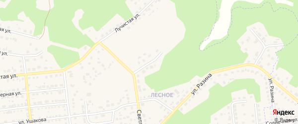 Улица Руслана Валиулина на карте Южноуральска с номерами домов