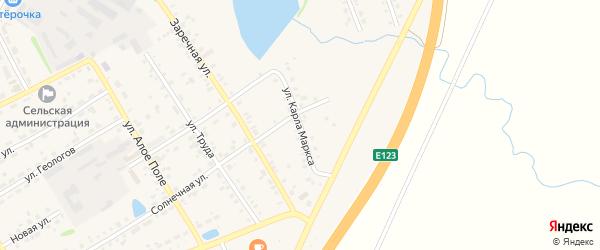 Улица К.Маркса на карте села Еманжелинки с номерами домов