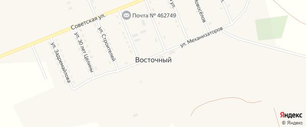 Советская улица на карте Восточного поселка Оренбургской области с номерами домов