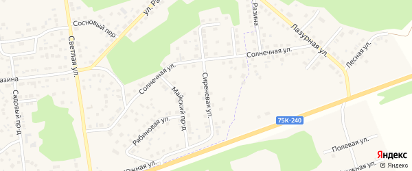 Сиреневая улица на карте Южноуральска с номерами домов