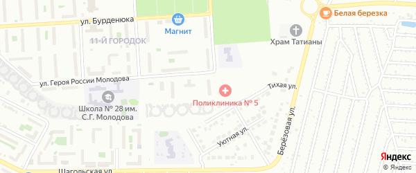 Территория ГСК 508 по ул Молодова блок 3 на карте Челябинска с номерами домов