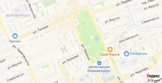 Улица Ленина в Еманжелинске с номерами домов на карте. Спутник и схема онлайн