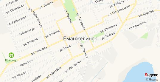 СТ Кузнец-3 на карте Еманжелинска с номерами домов