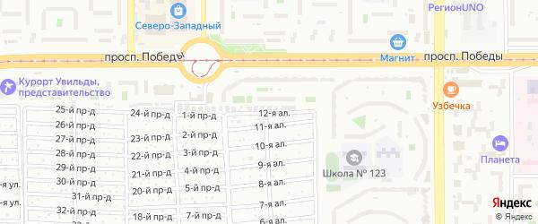 12-я аллея на карте Челябинска с номерами домов