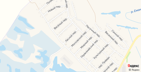 Лесной переулок в Еманжелинске с номерами домов на карте. Спутник и схема онлайн