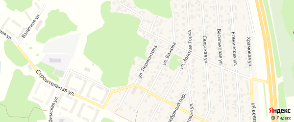 Улица Лермонтова на карте деревни Казанцево с номерами домов