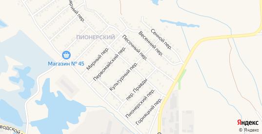 Культурный переулок в Еманжелинске с номерами домов на карте. Спутник и схема онлайн