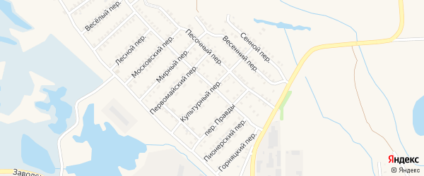 Культурный переулок на карте Еманжелинска с номерами домов