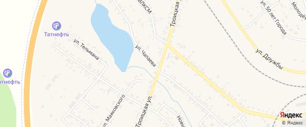 Улица Чапаева на карте Коркино с номерами домов