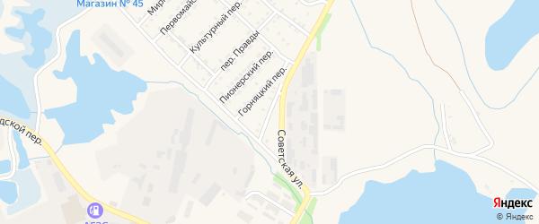 Солнечный переулок на карте Еманжелинска с номерами домов