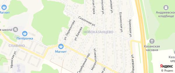 Улица Золотая Горка на карте деревни Казанцево с номерами домов