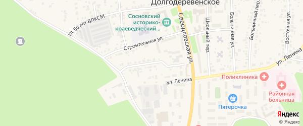 Кооперативная улица на карте Долгодеревенского села с номерами домов