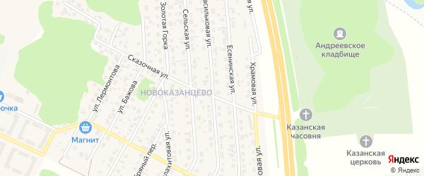 Васильковая улица на карте деревни Казанцево с номерами домов