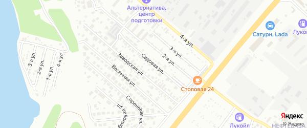 Улица Садовая (АМЗ) на карте Челябинска с номерами домов