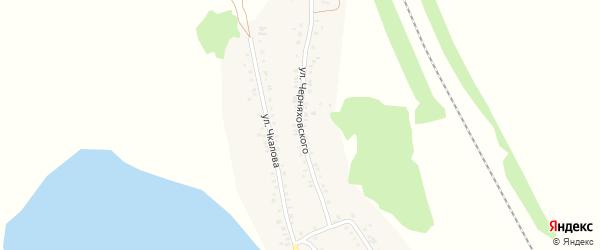 Улица Черняховского на карте Увельского поселка с номерами домов