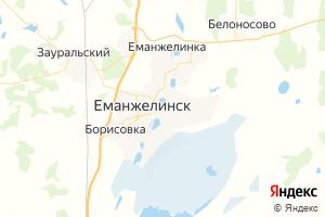 Карта г. Еманжелинск Челябинская область