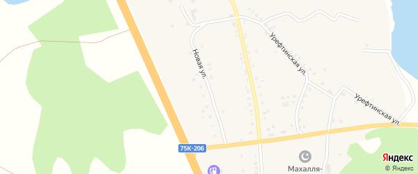Новая улица на карте деревни Султаева с номерами домов