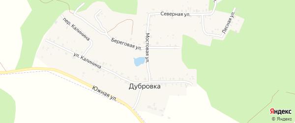 Мостовая улица на карте деревни Дубровки с номерами домов