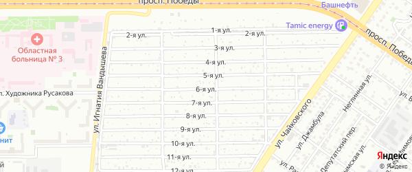 Сад 1 Механического завода на карте Челябинска с номерами домов